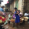 the village market after the rain